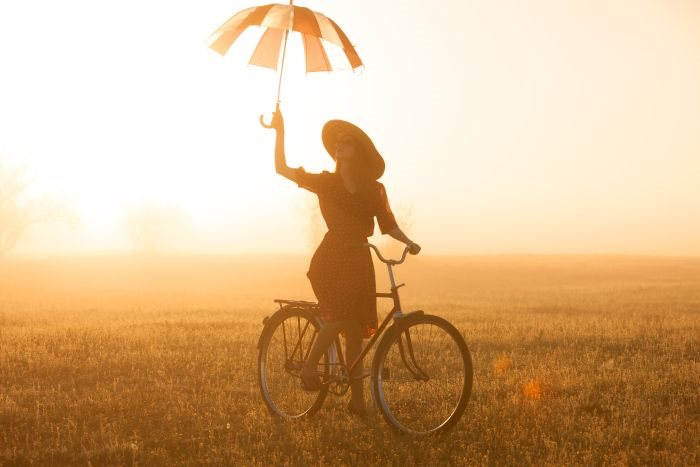 beauty,bicycle,happy,cycling,body,spring,beautiful,trip,road,hat